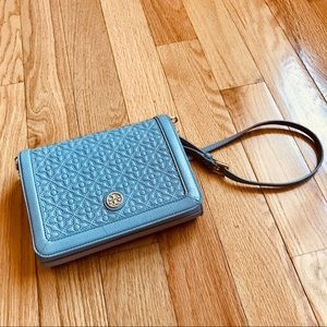 Gold! Tory Burch Bryant Quilted Leather Crossbody